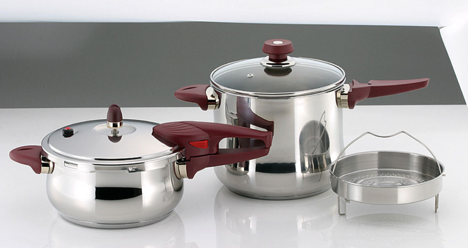 Stainless Steel Pressure Cooker Set