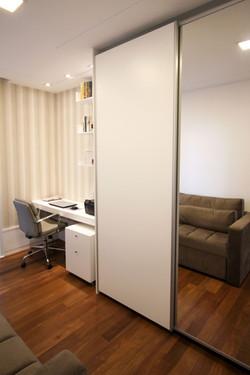 Quarto hospede e home office