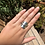 "Thumbnail: Silver ""tea time"" ring (size U)"