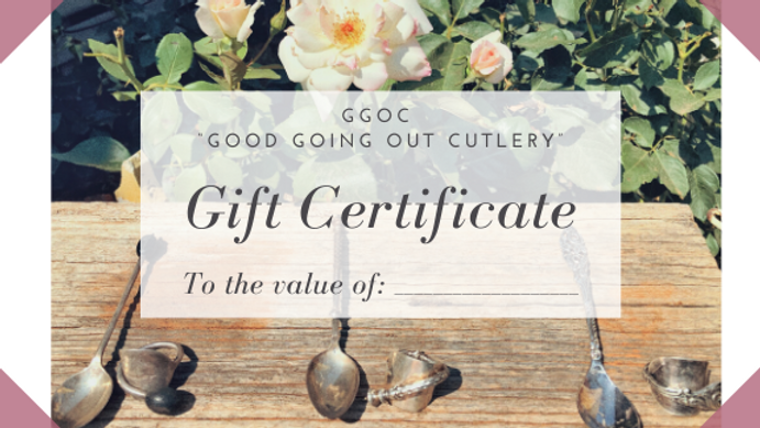 Gift Certificate for custom designed ring and postage