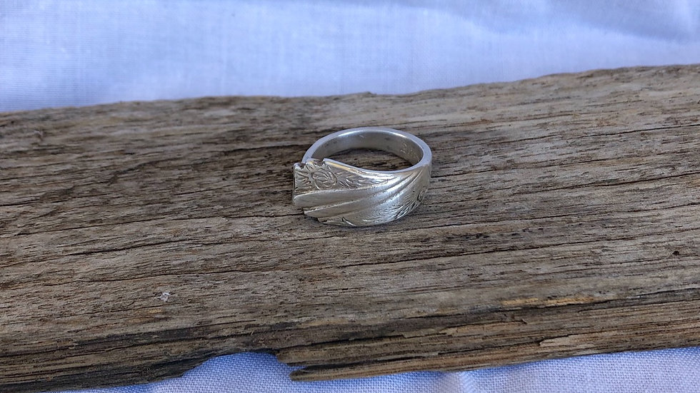 """Silver """"Soph"""" ring (size Q)"""