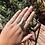 "Thumbnail: Brass ""berty"" ring (size S)"
