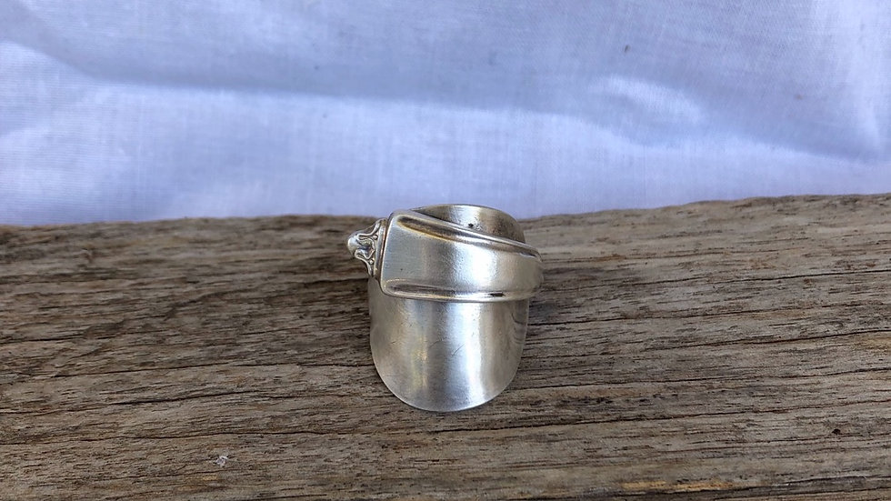 "Silver ""tea time"" ring (Size S)"