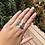 "Thumbnail: Silver ""tea time"" ring (size Q)"