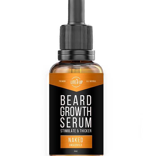BEARD GROWTH SERUM - Naked (Unscented)
