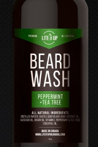 Lite It Up BEARD WASH w/ Peppermint and Tea Tree Essential Oils
