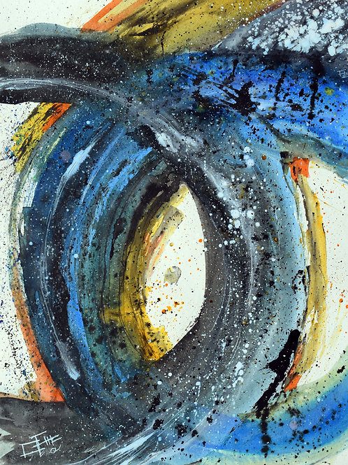 Circular abstract - A3