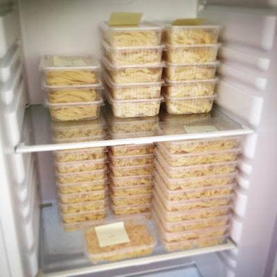 ledničky plný těstovin ... tak se nám to líbí :)