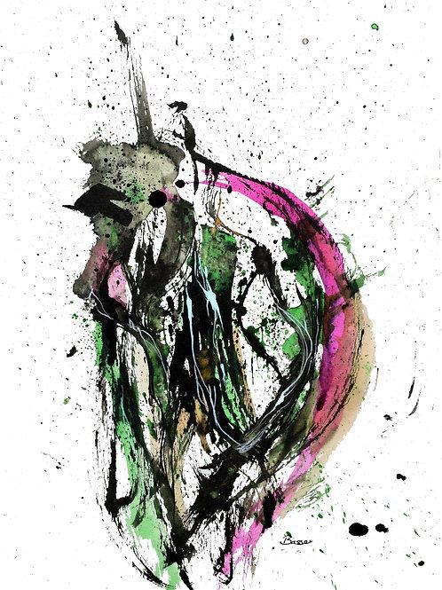 My green little monster - A3