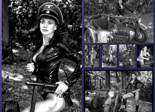 Featured photo shoot with model, Lisa Simakas, resurrected and portrayed in a collage from images ca