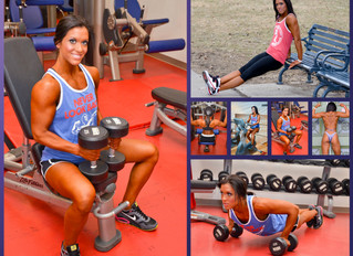 Carri Woodgerd, friend and dedicated figure athlete.  A collage created from images captured in 2013