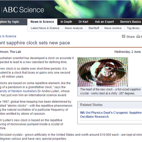 Giant Sapphire Clock sets new pace