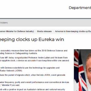 Advance in time-keeping clocks up Eureka win