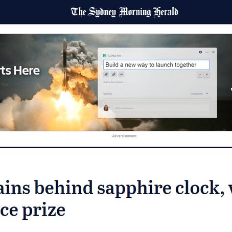 Eureka! Brains behind sapphire clock, wound glue scoop science prize
