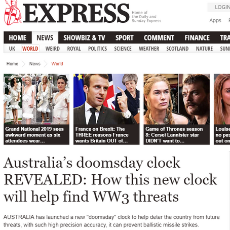 Australia's doomsday clock REVEALED: How this new clock will help find WW3 threats