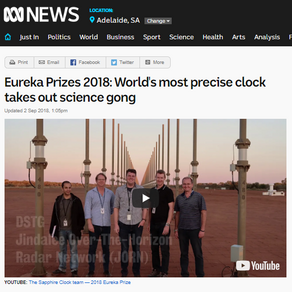 Eureka Prizes 2018: World's most precise clock takes out science gong