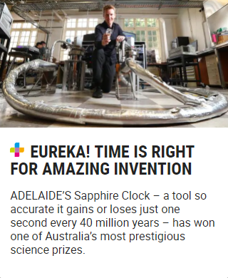 Eureka! Time is right for amazing invention
