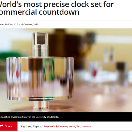 World's most precise clock set for commercial countdown