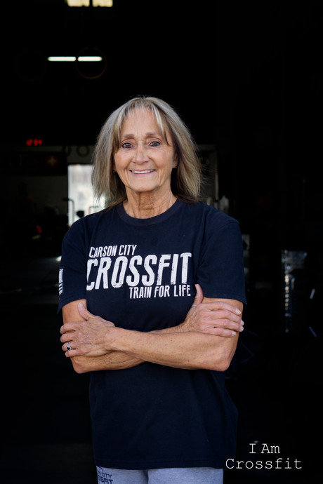 """Leslie Townsend  I'm 65 years old. I've been doing crossfit since October 2, 2015. Crossfit has become part of my life just like walking my dogs, spending time with family & coffee. I've been in & out of gyms since I was in my twenties. My grandson, Mason Kennedy, was going to CCCF & kept telling me I needed to start going. I told him I didn't think I could do it at my age. Well Mason kept on me telling me to just go & check it out. So I finally decided to go & check it out. I'll never forget this, I walk in & I see 2 young girls lifting weights that weighed more than they it. It was Amanda & Whitney. As I watched them I kept telling myself """"I can't do this what am I thinking"""" & I left. Well Mason kept on me about going. So I talked to Lief & he told me about Pink. I started with Pink & before long I was doing the regular WOD. I go 4 times a week. I've lost 15lbs & I'm keeping it off. People ask me what is crossfit & I tell them it's fast & furious & I love it. I'm not there to compete with anyone. I'm just there to stay healthy. CCCF is like a big family that supports each other. The coaches are just wonderful, knowledgeable & there to help us stay healthy. I can't say enough about Jill & Lief. They are always there to help with anything you need. They inspire everyone. I love going to CCCF & love everyone that goes. If you ever need a hug I'm there for you."""