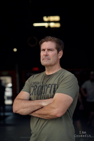 Sean Slamon. 52 years old. I have been going to CCCF for 2 years. I started Crossfit after Leif reached out to me at work. I was bored of going to a regular gym. CCCF was the best fitness decision I have ever made. It truly is a community and I look forward to going every day. The coaches are awesome and the athletes have become a second family.