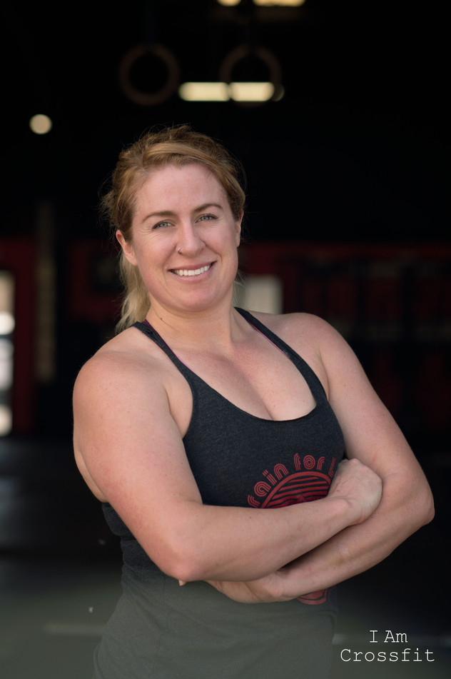 Michelle Raponi. 31 years old. I started CrossFit end of January of this year. I got into CrossFit to advance my workout, join an awesome community, and to lift heavy things.