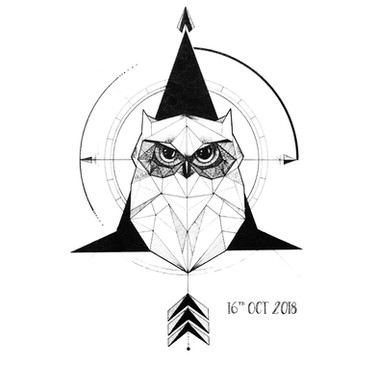Owl Ink Drawing