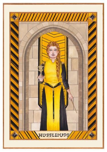 Helga Hufflepuff in Gouache and Watercolour