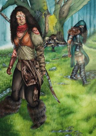 Warrior Women in Watercolour