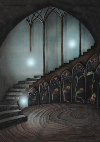 Staircase in Watercolour