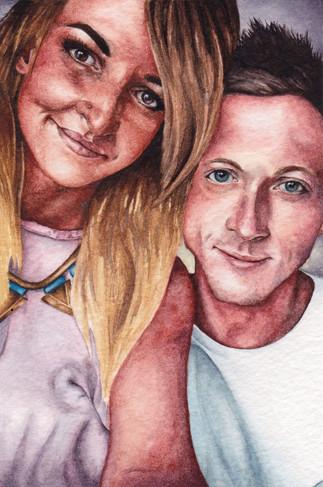 Becca & Steve in Watercolour