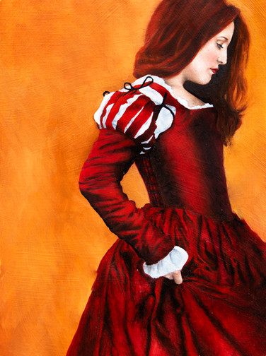 Red Lady in Oil