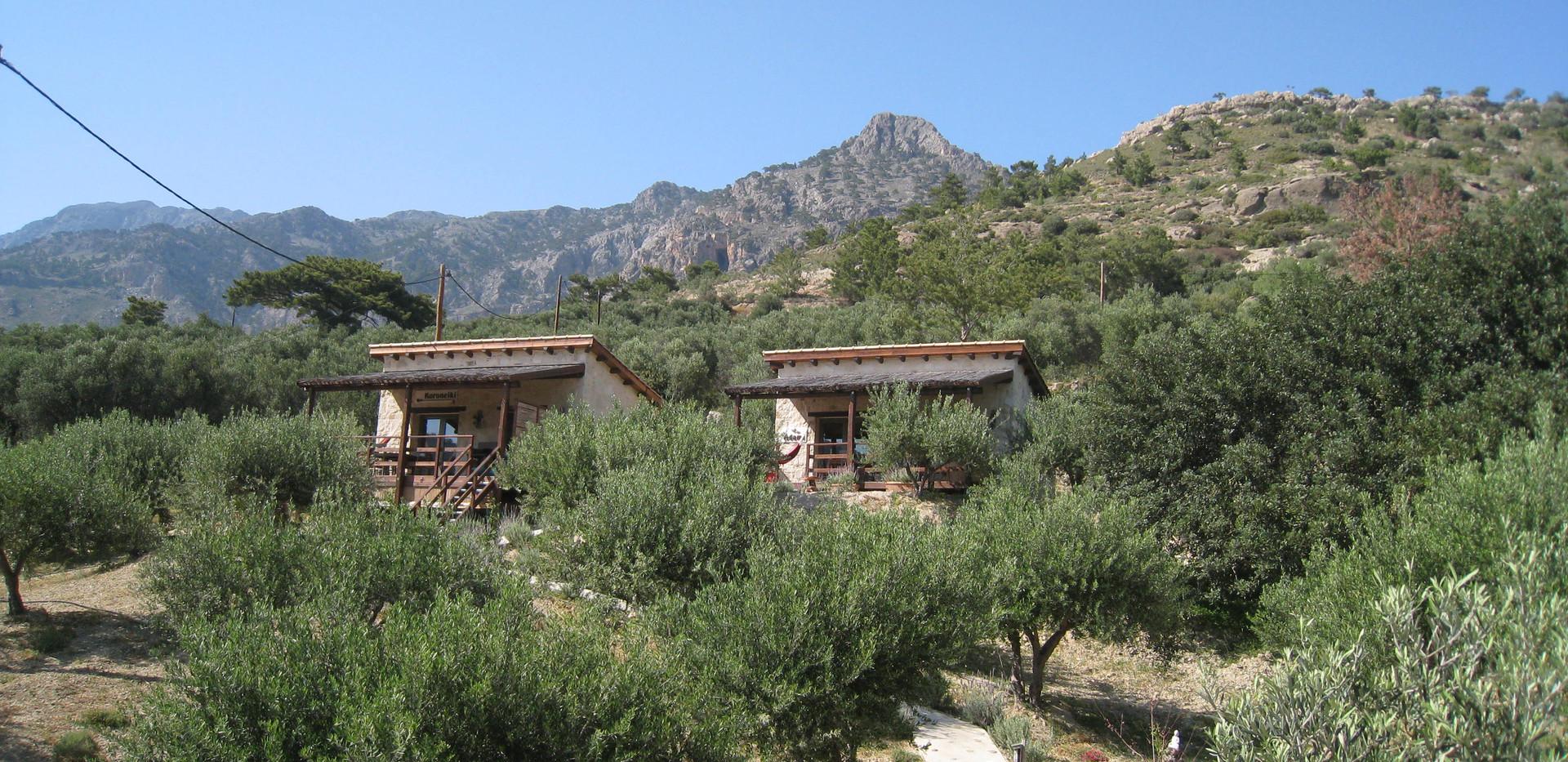 Onze vakantiehuisjes in de natuur op Kreta
