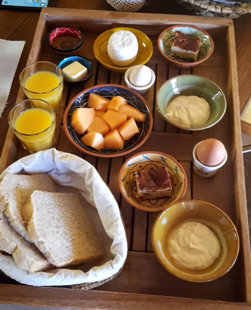 Le petit déjeuner Kalyvitis, produits bio, Crète