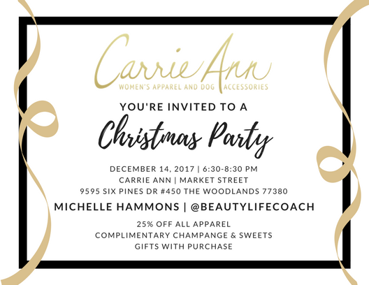 You Are Invited To Carrie Ann's Christmas Party!
