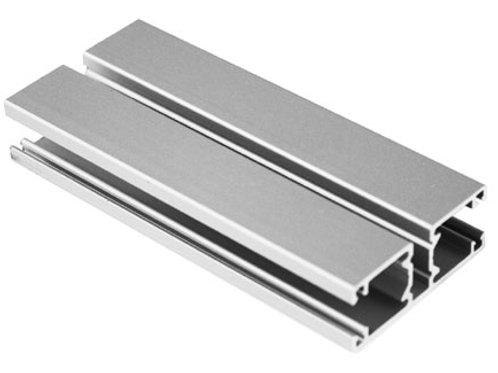 Coulisseaudoubleenaluminiuméloxé,dim.46x18mm,sansantibruit