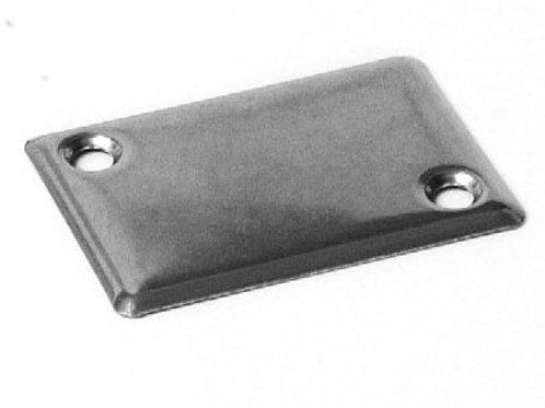 Plaque cache guidage de sangle, inox (58 x 40 mm)