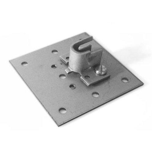 Plaque carrée 90 x 90 mm pour support d'axe