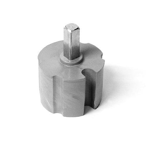 Embout d'axe carré 13 x 13 mm, Ø 70 mm
