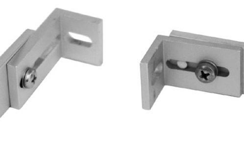 Equerre de coulisse réglable en aluminium éloxé, assemblée