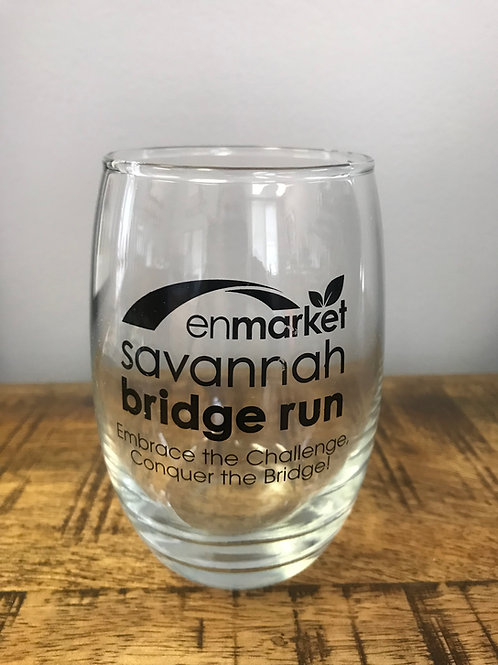 Bridge Run Stemless Wine Glass