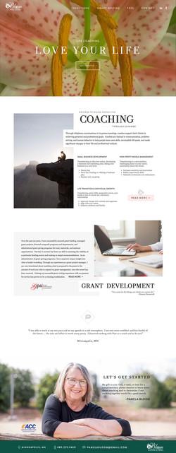 Life Coach Consulting Website Design