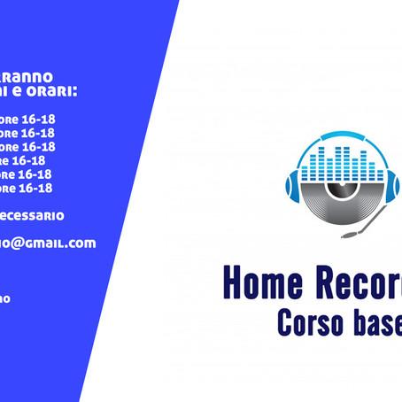 Corso di Home Recording Base (GRATUITO) - I Edizione