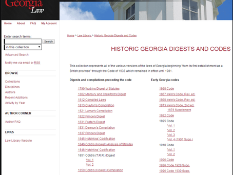 Digitization Stories #1: Historic State Codes at the University of Georgia