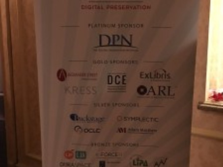LIPA at the Digital Library Federation Forum and NDSA's Digital Preservation 2016