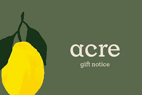 acre gift notice - for post or pickup