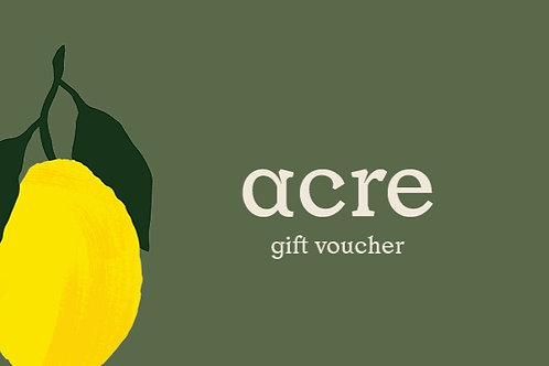 acre gift voucher - via email