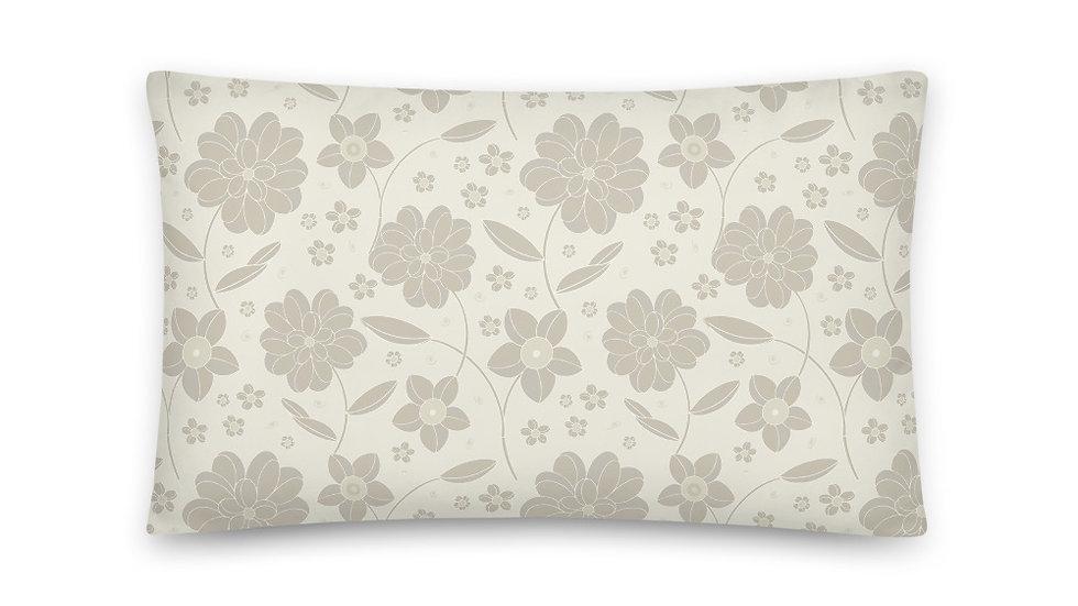 Elegant Cream Throw Pillow