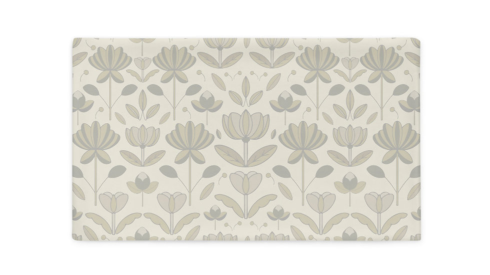Ivory Floral Pillowcase