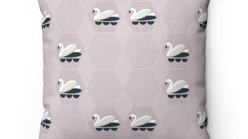 Swans - Spun Polyester Square Pillow
