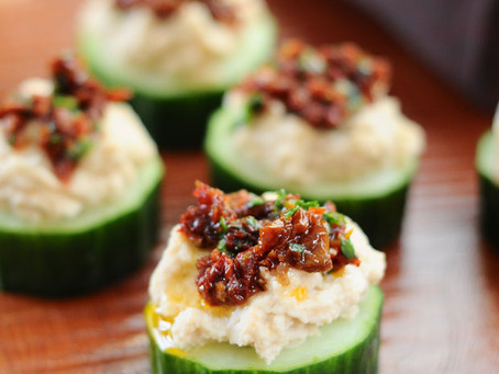 White Bean & Sun Dried Tomato Cuke Cuties {Vegan, Gluten-Free}